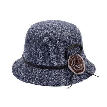 61c3bb48f52 New design felt fashion custom red fedora wool lady flower hat patterns