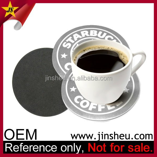 High Quality Cheap Souvenir Customized Metal Tea Cup Coaster