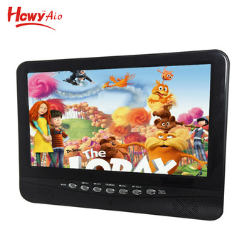 New Solar Portable Tv 7 Inch Dvd Player With 9inch