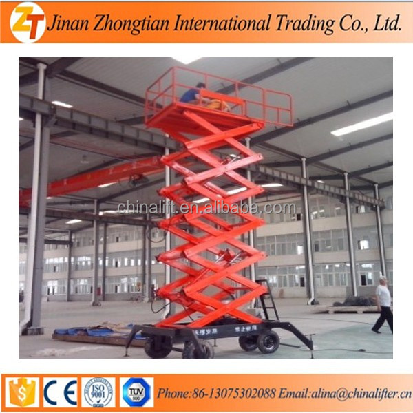 High Pressure Oil Pump Hydraulic Portable Scissor Lift Table For Sale