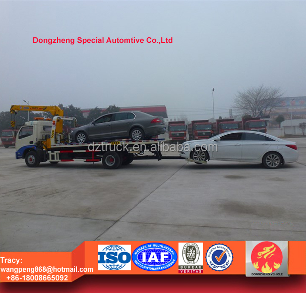 dongfeng 5tons flatbed road wrecker, wrecker towing trucks for sale