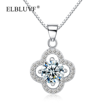 Elbluvf 925 Sterling Silver Chain Womens Lucky Four Leaf Clover Necklace  For Valentine Gift - Buy Clover Shaped Necklace,Lucky Clover  Necklace,Silver