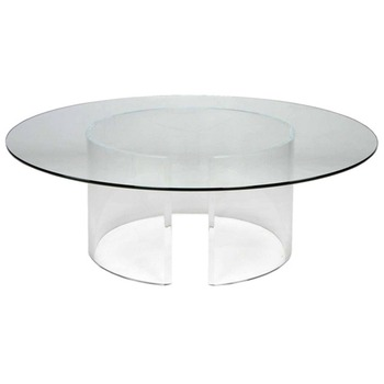 Acrylic Small Round Coffee Table Lucite Round Cocktail Table Furniture Table Buy Acrylic Small