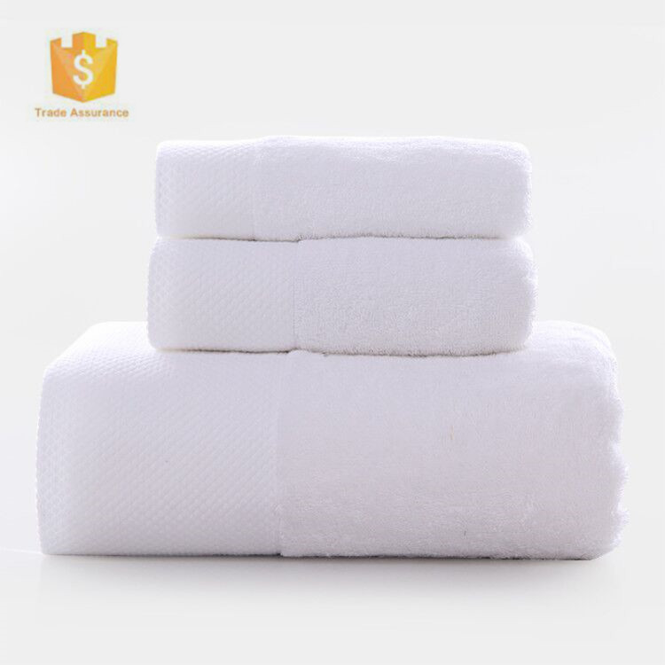 China wholesale 100% <strong>cotton</strong> customized cheap white hotel towel set