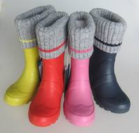 2016 hot sale rubber wellington boots for kid