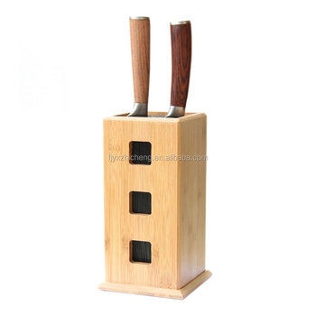 Kitchen Slotless Bamboo Bristle Knife Block Steady Kitchen Knives Storage  Stand For Knife Organizer And Holder - Buy Bamboo Kitchen Knife Storage ...
