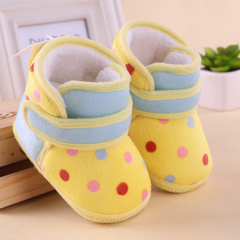 0 1 year old baby toddler boots shoes soft bottom cotton girls indoor slippers shoes infant