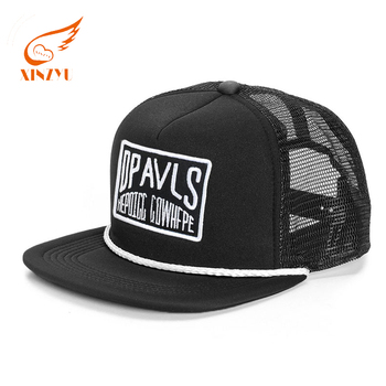 Custom 5 Panel Mesh Snapback Hats Wholesale Polyester Snapback Cap With  String d18dd603984