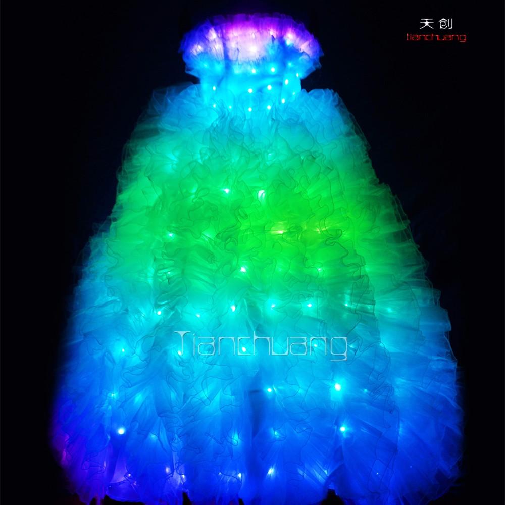 Vestidos de Novia de Color de la Luz de Control remoto, Little Boots ...