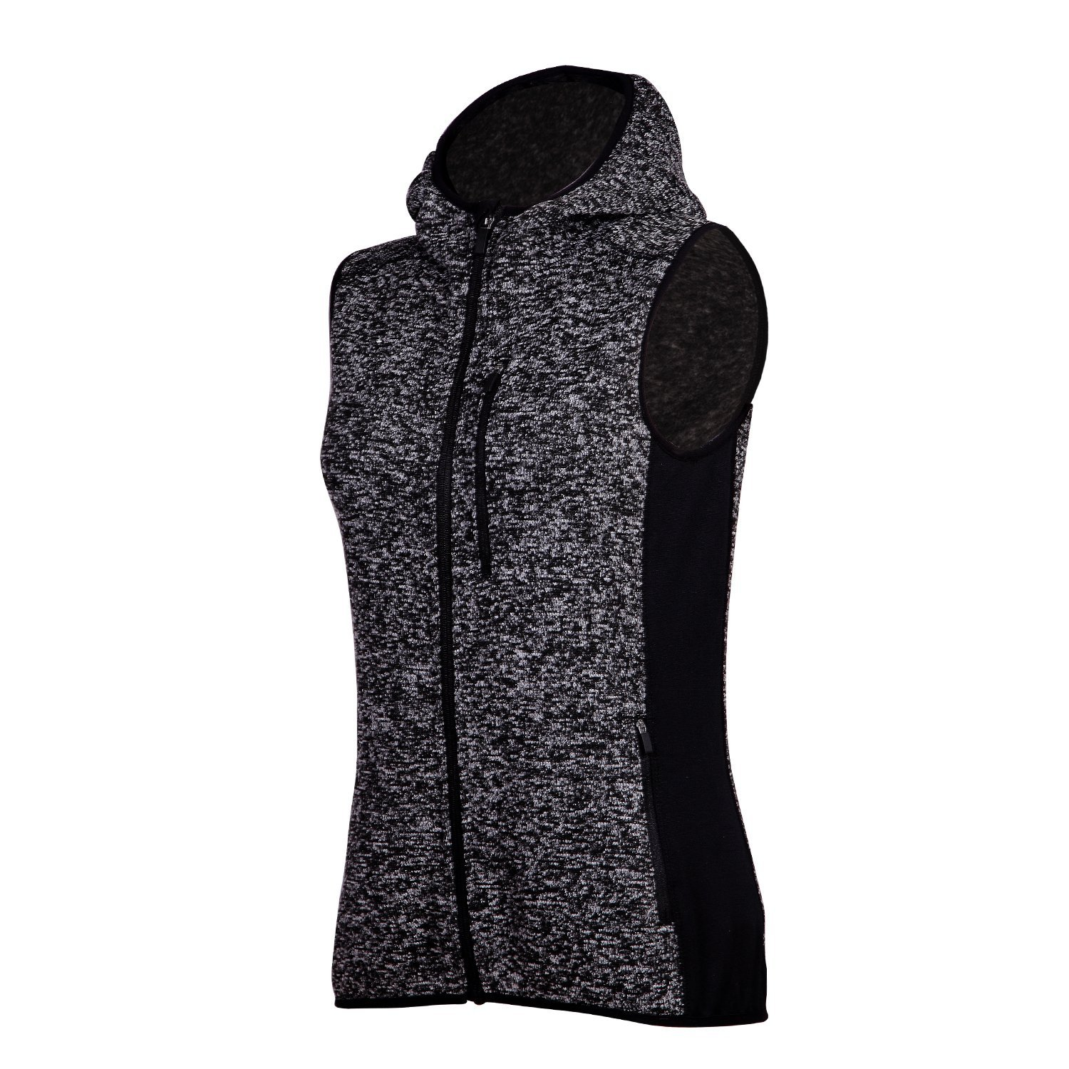 faa609fa59db Get Quotations · spoear Zip Up Womens Vest with Zipper Pockets Athletic  Sweater Fleece Vest Sleeveless Sweater Jacket
