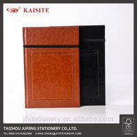 pu leather note book PU notebook with elastic band and a phone pocket