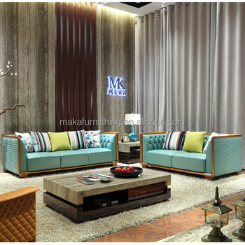 Modern Leather L Arabic Majlis Sofa Design Lounge Set