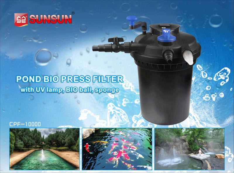Sunsun cpf 10000 10000l h with uv lamp pond and for Koi pond pool filter