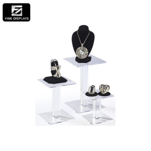 Best selling hot chinese products Showcase for Jewelry earring acrylic exhibition jewelry display stand
