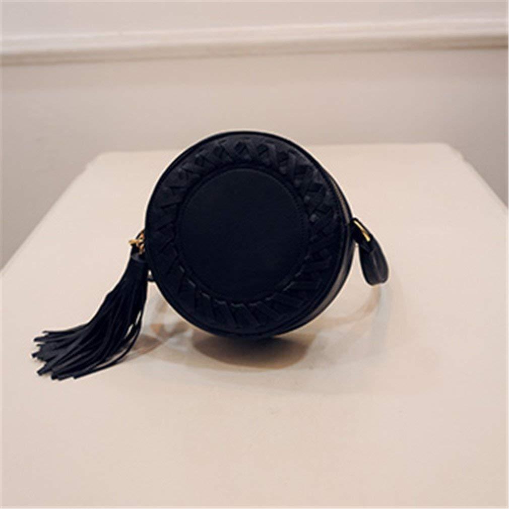 Round Women Tassel Bag Woven Crossbody Bags Cute Knitting Circular Women Messenger Bags