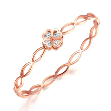 Valentine 's Day gift Stainless Steel Rose Gold Couple Bracelets Bangles Creative Diamond Hollow love lady bracelet
