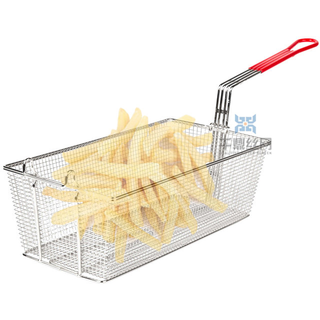 Stainless steel 201 304 OEM ODM iron wire fry basket french fries baskets