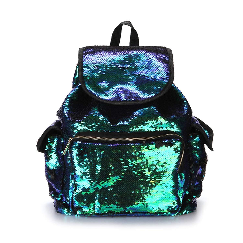 f4b517022e Get Quotations · Taichao Women Girl Backpack Shining Sequins Rucksack  Travel Shoulder School Bag Rucksack