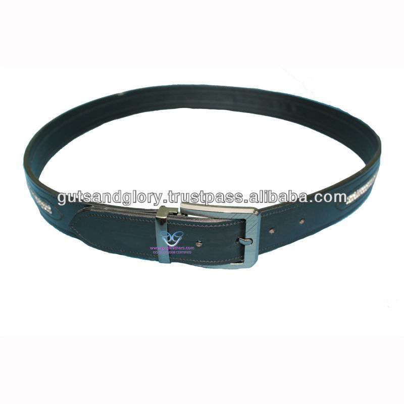 Diamante Leather Belt