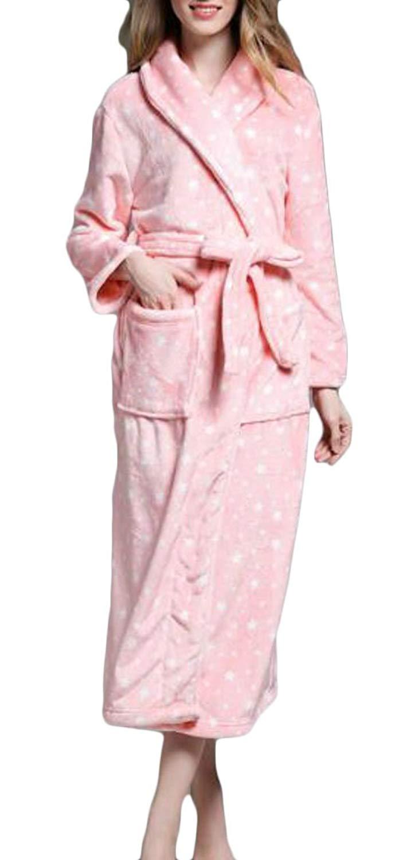Get Quotations · Lutratocro Womens Sleepwear Flannel Shawl Collar Plus Size  Cardigan Bath Robe Robes 47c7f4ca7