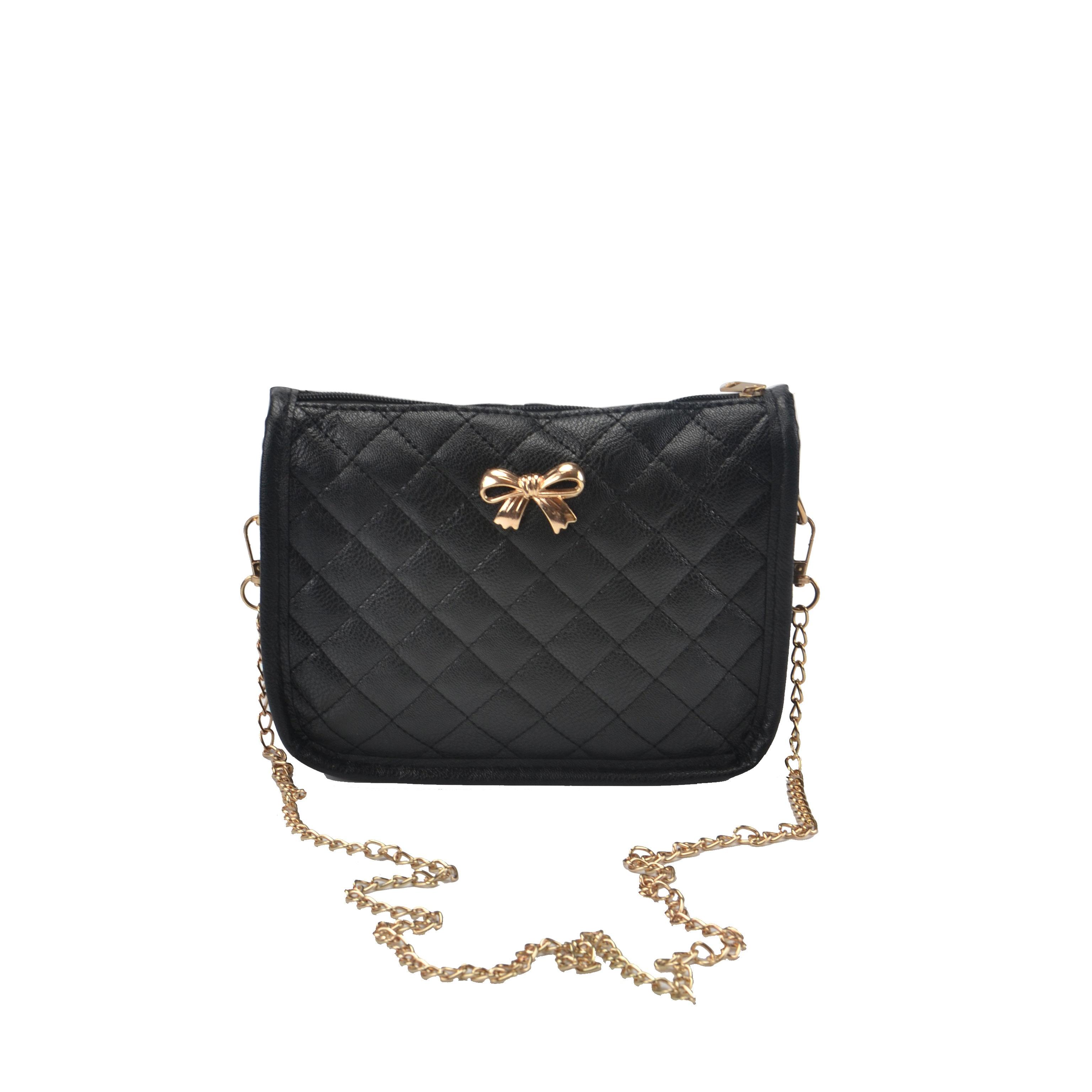 New Style Plain Bowknot Decoration Female Handbag Single Shoulder