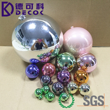 Factory Wholesale Christmas Tree Decorative Hollow Sphere 200mm Plastic Ball