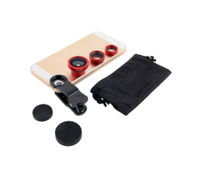 Hot sell Universal Fisheye Lens 3 in 1 Mobile Phone Clip Wide Angle Macro Camera Lens For Smartphone Microscope