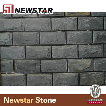 mushroom stonedark grey slate for exterior wall facing tile
