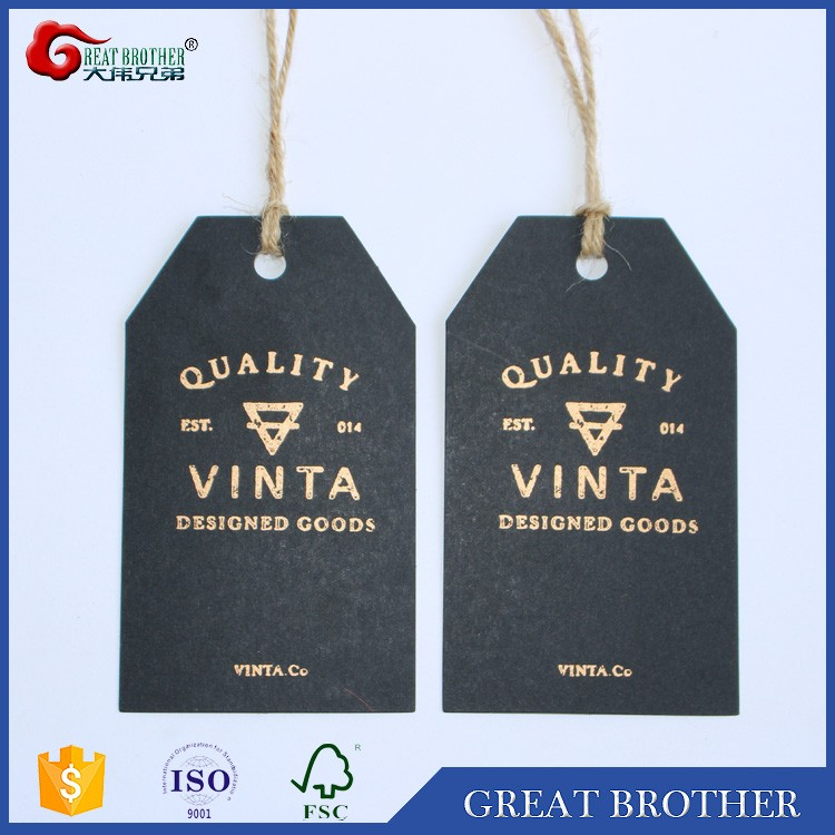 custom made china jeans paper hang tags for clothing
