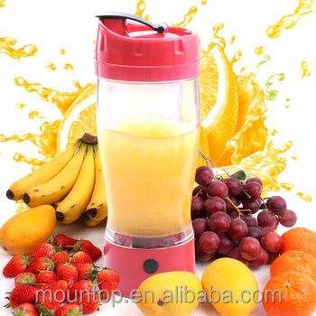 China factory supply fruit infusions shaker cup, electric shaker bottle operated by battery portable travel mug фото