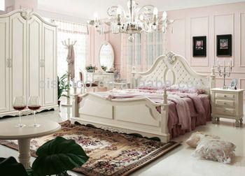 Morden Design Solid Wood Bedroom Set,Exquisite Wood Carved Bedroom ...