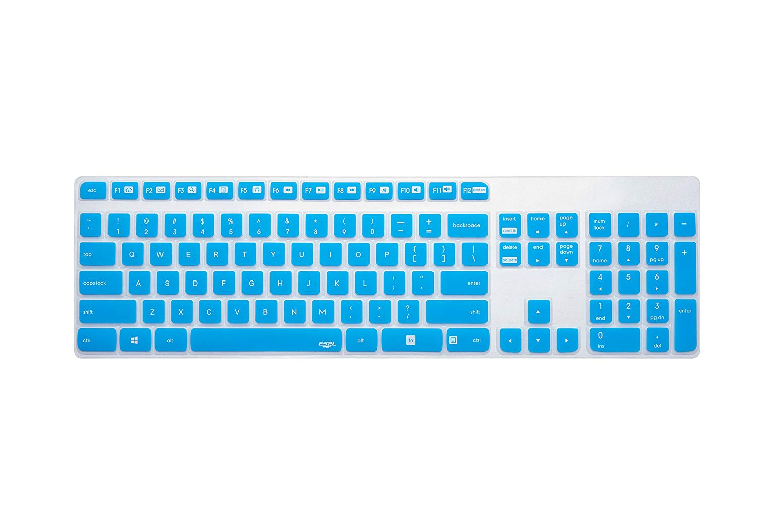 Clear Silicone Keyboard Protector Cover Guard for Dell KM632 Wireless Keyboard