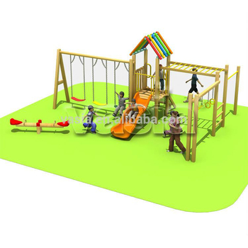 Kids outdoor playground plastic garden swing in playground for outdoor play set
