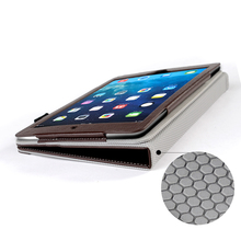 Manufacture Wholesale flip wallet leather tablet case for iPad Air 2 /iPad 6 with pen holder