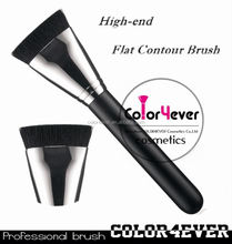 Wholesale hot sell 163 flat contour makeup brush with copper goat hair professional makeup brush set