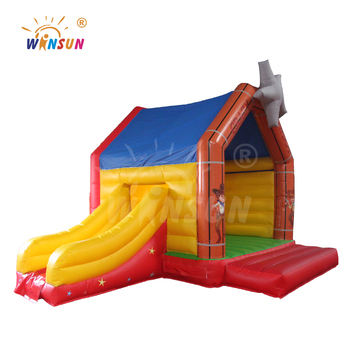Cow boy combo bounce,inflatable cow boy bounce slides,inflatable jump trampoline for sale