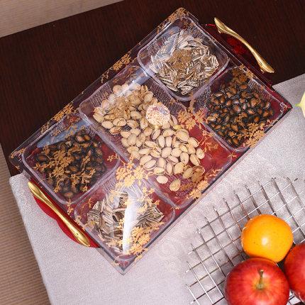 Fashion four grid acrylic candy tray gift box