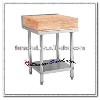 S022 Stainless Steel Bench With Wooden Or Plastic Cutting Board