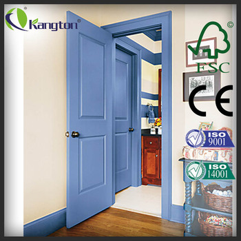 Two Panel Blue Lacquer Safety Bedroom Wooden Interior Door Buy Interior Door Two Panel Interior Door Two Panel Safety Bedroom Wooden Interior Door