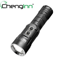 Electric torches LED Strobe SOS Flashlights Xml2 T6 1000lm 5 Modes Waterproof Rechargeable led Torch Chenglnn CS20S