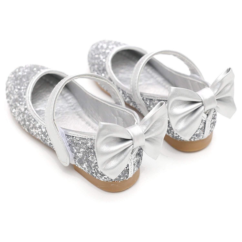 Sunbona Infant Toddler Girls Bling Dance Ballet Flats Princess Mary Jane Slip On Ballerina Loafers Shoes