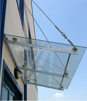Outerdoor Glass Canopy Awnings Fittings Buy Stainless Steel