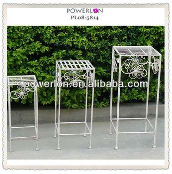 Pedestal stands for flowers wedding iron flower pot stands - Pedestal para plantas ...