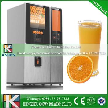 2017 New Design Automatic Mandarin Orange Juice Vending Machine