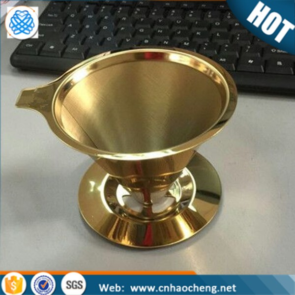 Titanium Coated Stainless Steel Clever Coffee Dripper Filter with Holder