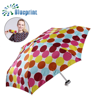 Wholesale pretty cute promotional super light 6 K five fold umbrella