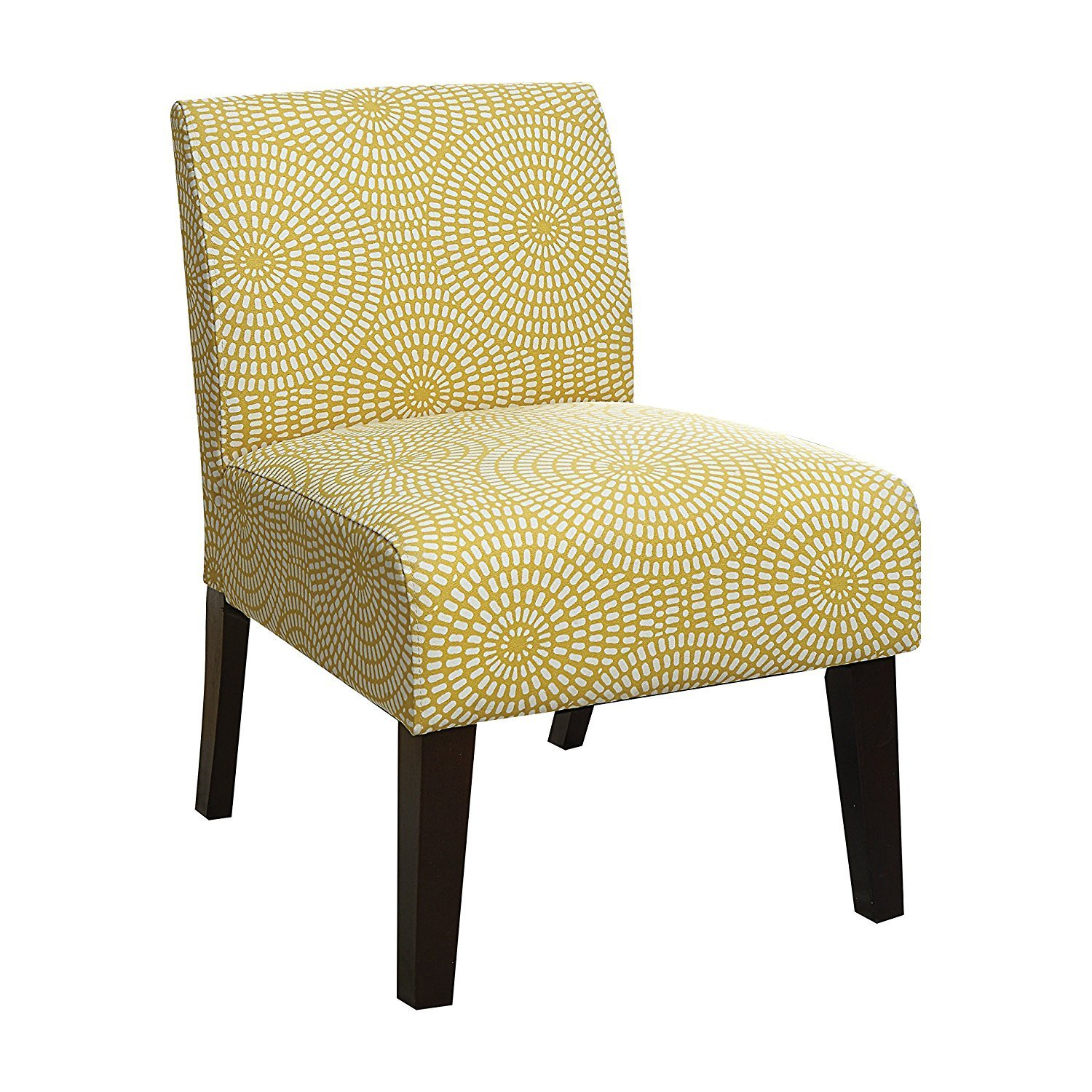 Get Quotations · Major Q Linen Slipper Accent Chair For Living  Room/Bedroom, Solid Pattern,
