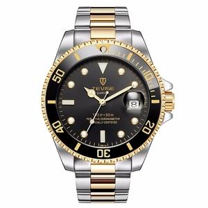 Tevise Watch Stainless Steel Brand Men Watch Quartz T 801 Fashion Luxury Gold Clock Male Watches Men Wrist Relogio Masculino