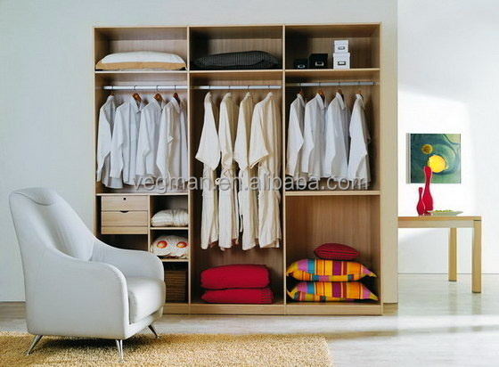 Free Standing Modern Small Wardrobe Designs Without Doors Bedroom Cabinet Closet Wood Wardrobes