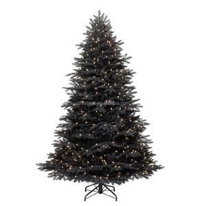 New Design Artificial Pre Lit Black Christmas Tree